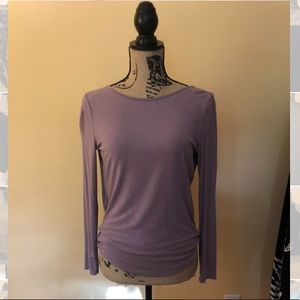 Purple Open Back Long Sleeve